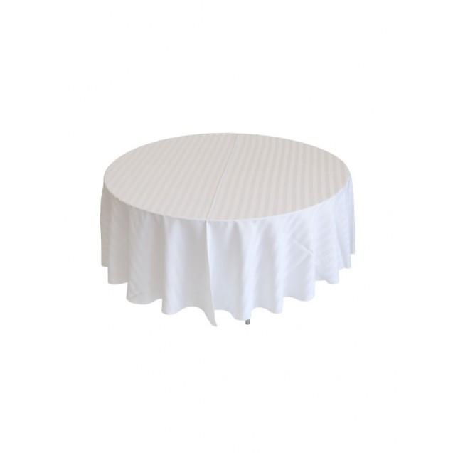 "120"" Round Satin Striped Table Linen"