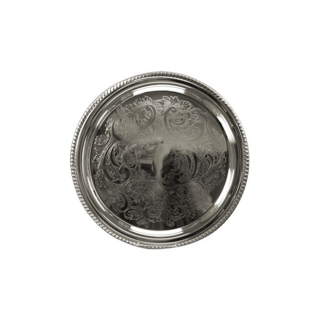 15 in Round Silver Tray