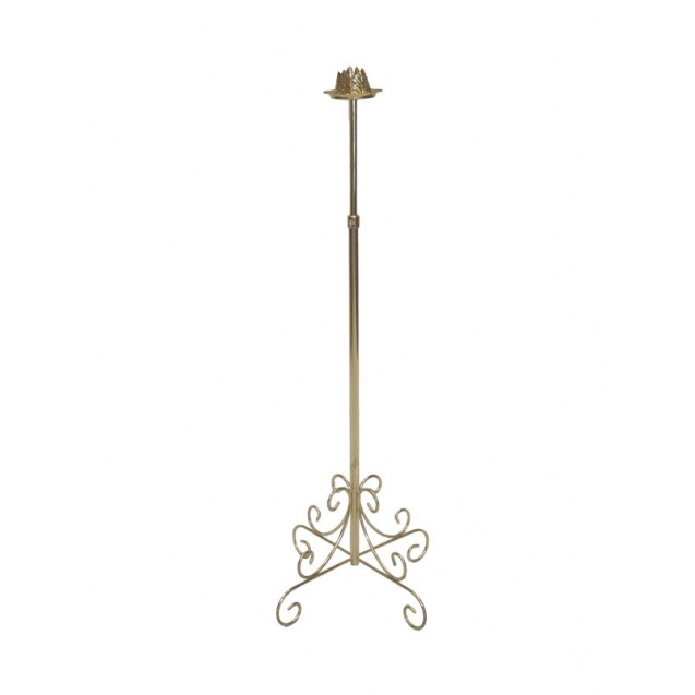 1 Branch Brass Aisle Candelabra