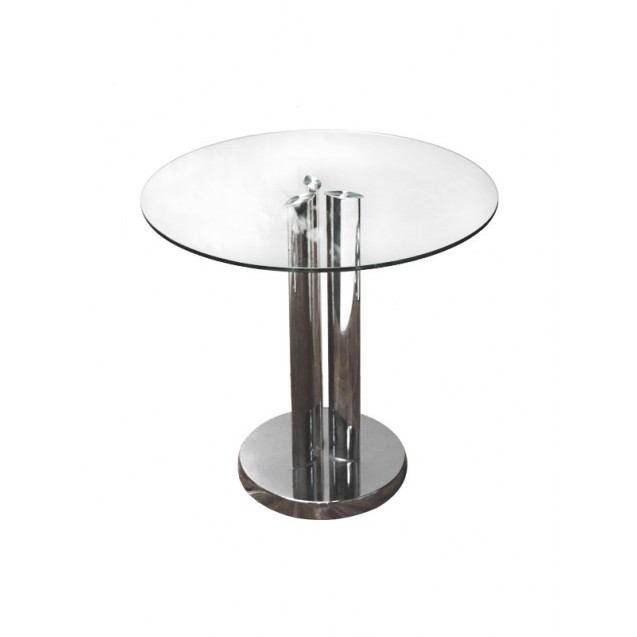 """23"""" Round Glass End Table"""