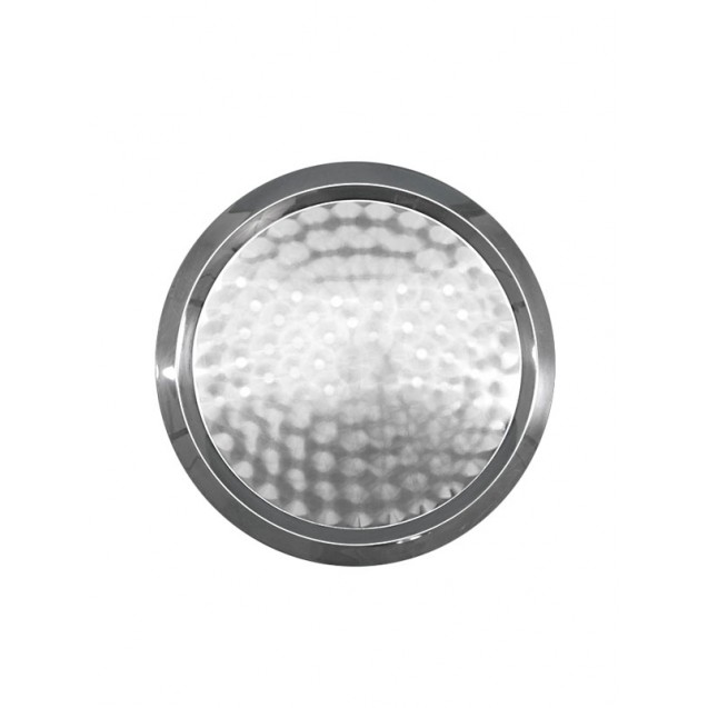 25 in Round Stainless Steel Tray