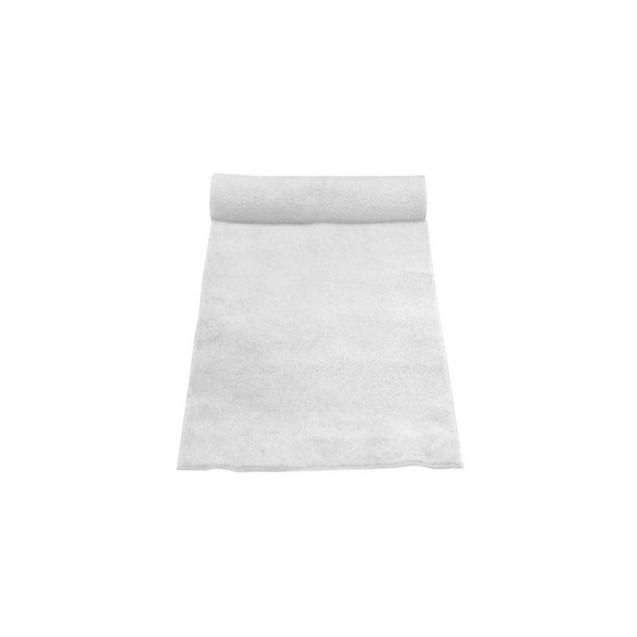 3' x 100' White Linen Aisle Runner