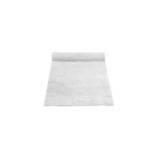 3' x 25' White Linen Aisle Runner