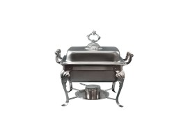 4 Quart Stainless Steel Oblong Server