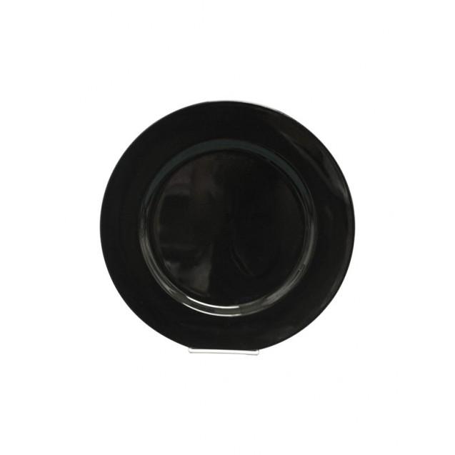 Black Acrylic Charger