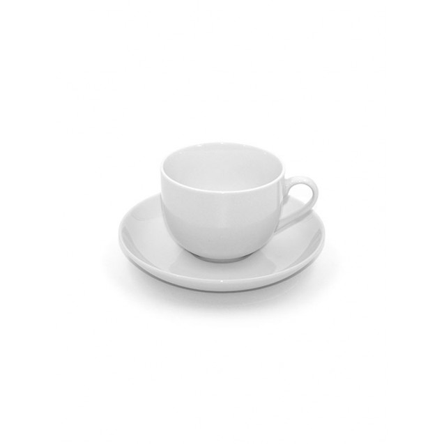 Castle White China Demitasse Cup w/ Saucer