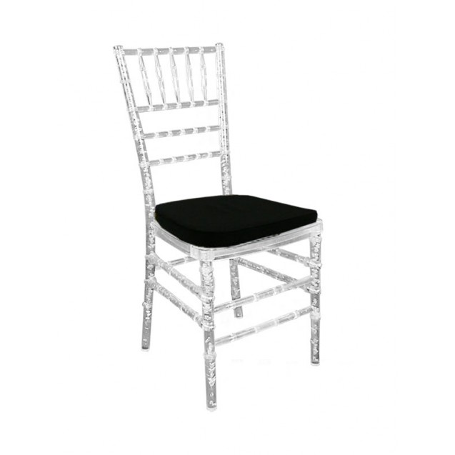 Clear Chiavari Chair w/ Cushion