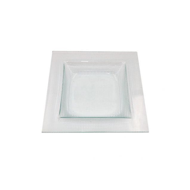 Clear Square Soup Bowl