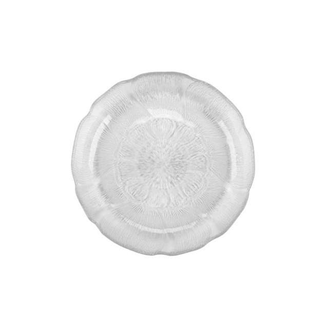 Fleur Glass Dinner Plate 10.75 in