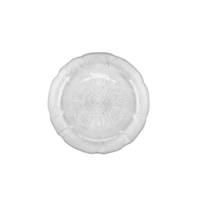 Fleur Glass Luncheon Plate 9 in