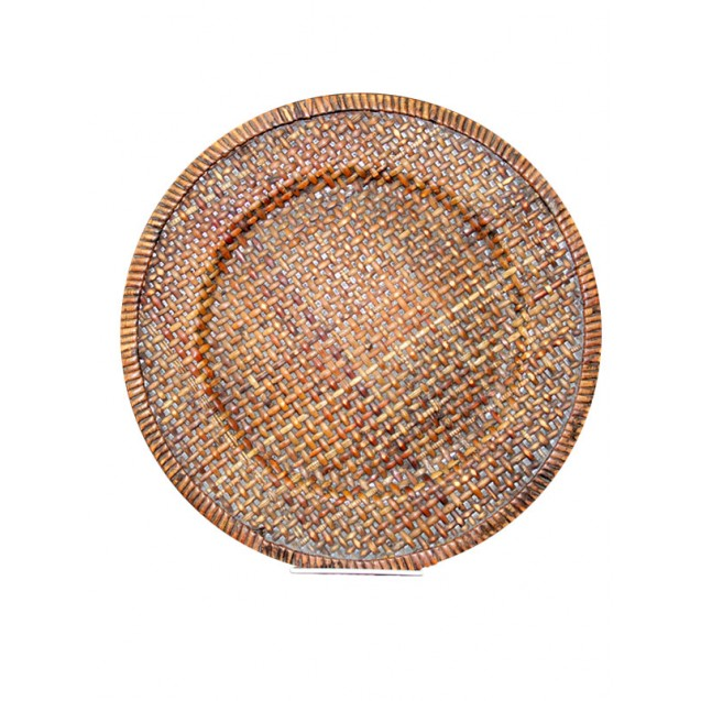 Fruitwood Woven Rattan Charger 13 in