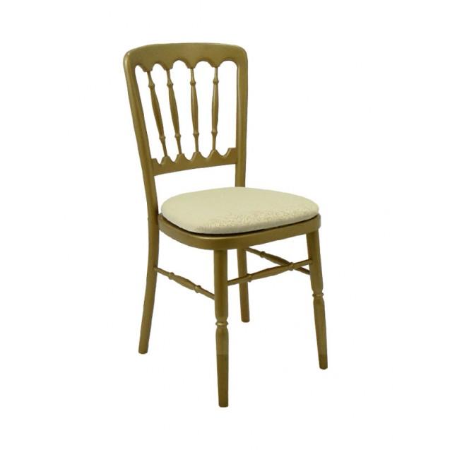 Gold Versailles Chair w/ Cushion