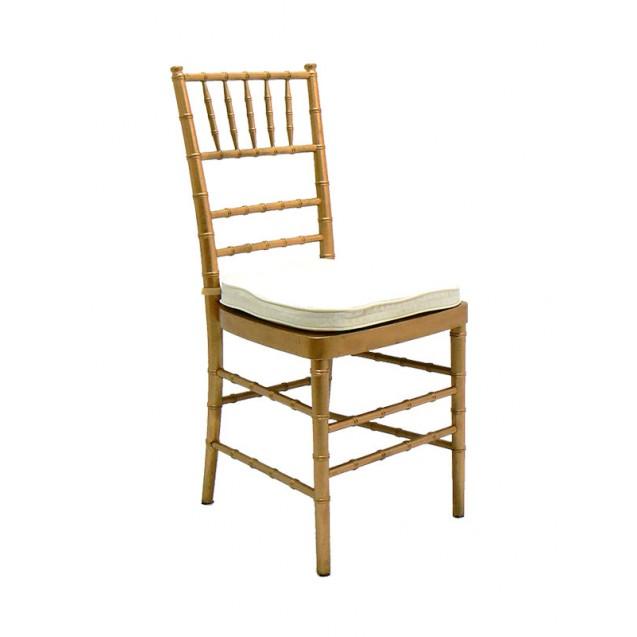 Gold Chiavari Chair w/ Cushion