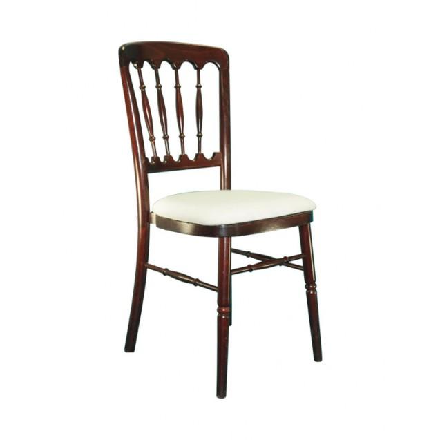 Mahogany Versailles Chair w/ Cushion