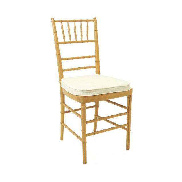 Natural Chiavari Chair w/ Cushion