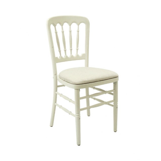 Off-White Versailles Chair w/ Cushion
