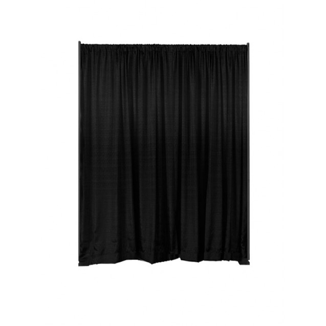 Pipe and Drape - Black Duvetyne 12' High, Per ft.