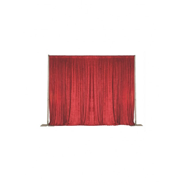 Pipe and Drape - Red Velour 10' High, Per ft