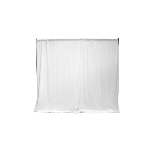 Pipe and Drape - White Sheer 10' High, Per ft