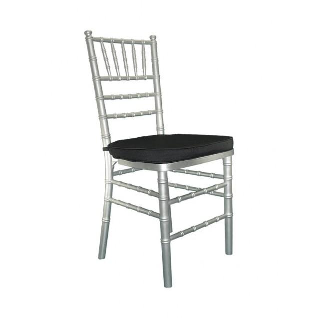Silver Chiavari Chair w/ Cushion