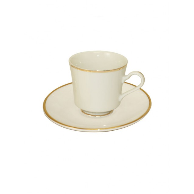 Simplicity China Coffee Cup w/ Saucer