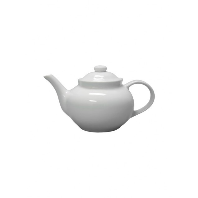 White Ceramic Teapot 32 oz.