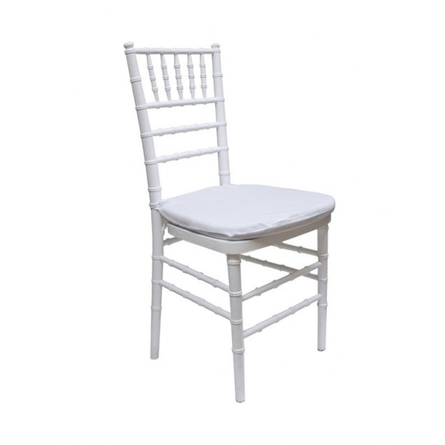 White Chiavari Chair w/ Cushion