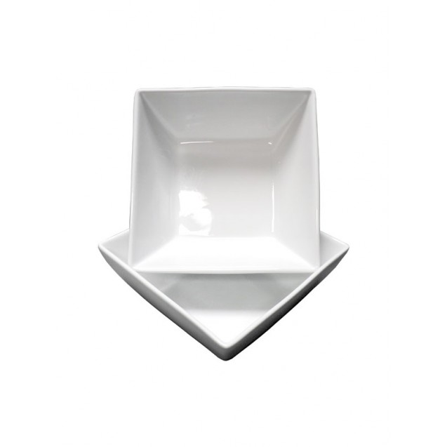9 in White Square Serving Bowl